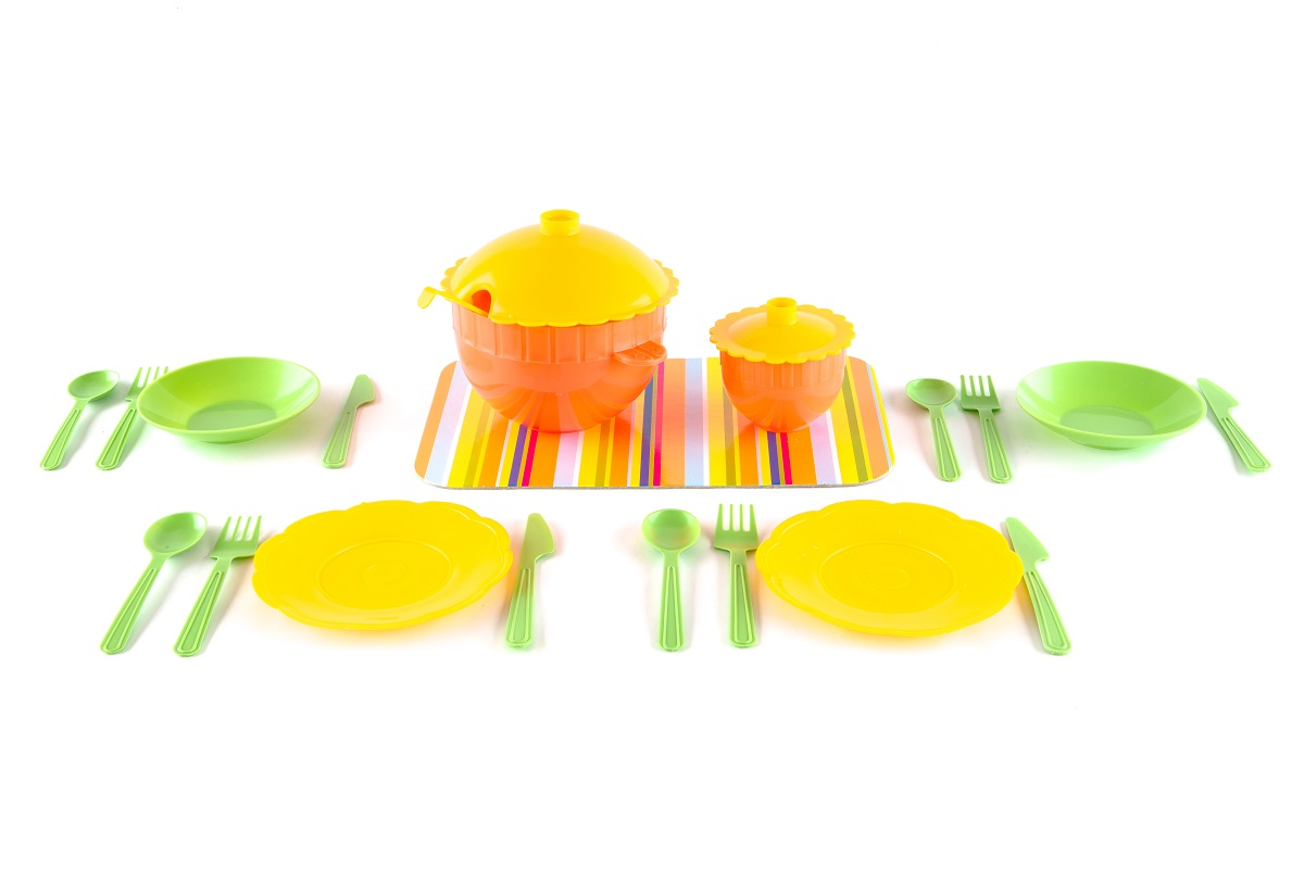 Купить Набор детской посуды ПЛАСТМАСТЕР 22131 Сервиз, Пластмастер, пластмасса, Для девочек, Россия, Игрушечная еда и посуда