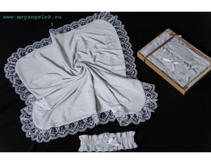 Купить МОЙ АНГЕЛОК Плед велюровый Сказка ПД 701, цвет: серый [ПД 701], Для мальчиков и девочек, Покрывала, подушки, одеяла для малышей