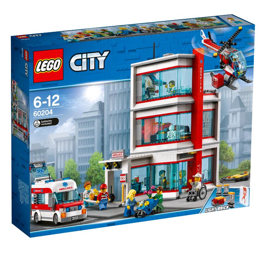 Купить Конструктор LEGO 60204 City Town Городская больница LEGO® City, пластик, Для мальчиков и девочек, Чехия, Конструкторы