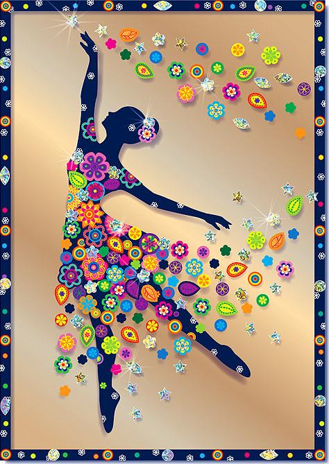 Купить КЛЕВЕР Набор для изготовления картины Клевер Балерина , 21x29, 6 см, арт. АС 43-230 [АС 43-230], Наборы для создания украшений