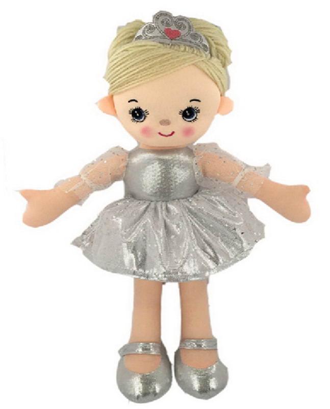 Купить Кукла мягконабиваная, балерина, 30 см, цвет серебристый [M6002], Abtoys, Куклы и пупсы