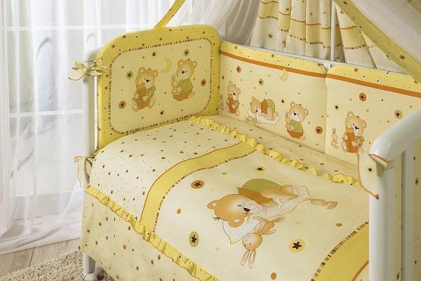 Купить 12358710, ТМ ПЕРИНА Комплект постельного белья Ника, 7 предмета, [Н7-01.2], ТМ Перина, Постельное белье для малышей