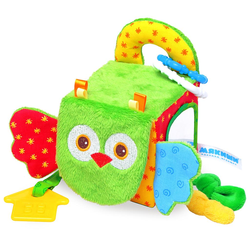 Купить Игрушка МЯКИШИ 307 Кубик Сова, Мякиши, 100% х/б ткань, трикотажные полотна, Для мальчиков и девочек, Россия, Кубики для малышей