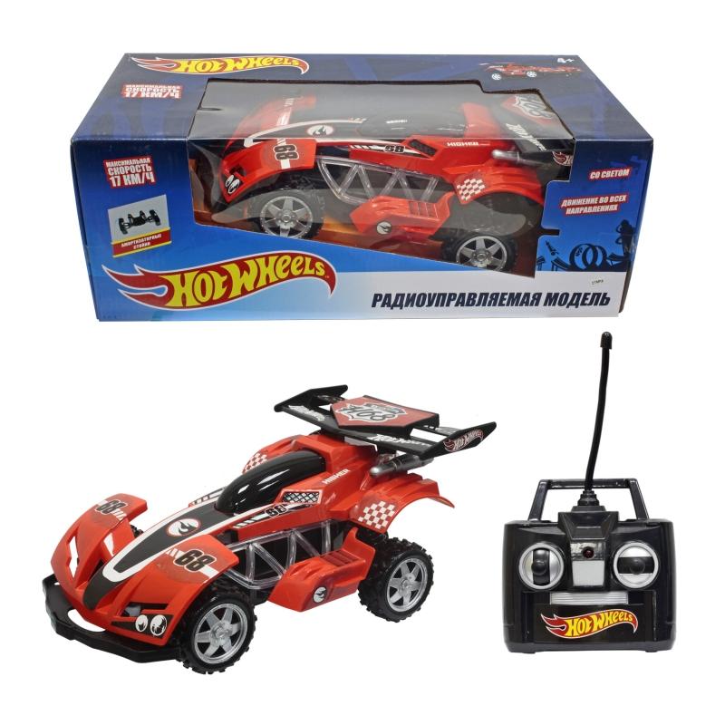 Купить Hot Wheels багги на р/у, cо светом, скорость до 17км/ч, красная [Т10985], Для мальчиков, Игрушки на радиоуправлении