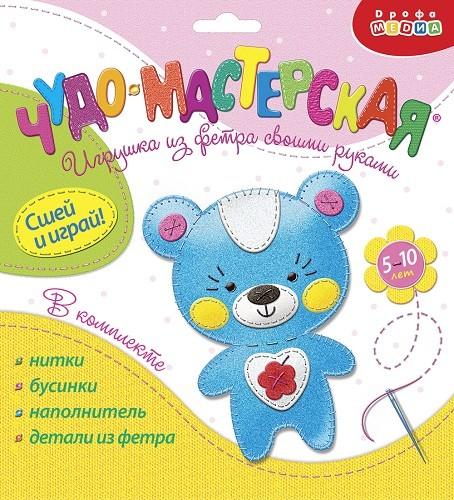 Купить Игрушка из фетра своими руками. Мишка [3371], 200x220x15 мм, Товары для изготовления кукол и игрушек