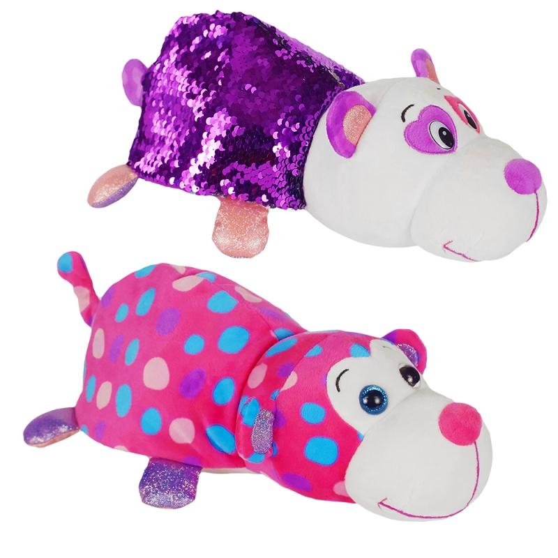 Купить 1TOY Вывернушка БЛЕСК с паетками 30 см Панда-Обезьянка [Т15591], Мягкие игрушки