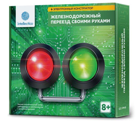 Купить INTELLECTICO Набор Электронный конструктор. Железнодорожный переезд своими руками [1103], Конструкторы
