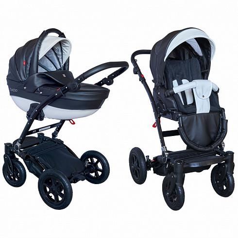 TUTEK Детская коляска Torero 2 в 1 (цвет: черный) [УТ-0002455ECOTOECO12/C], Черный, Резина, алюминий, эко-кожа, Детские коляски  - купить со скидкой