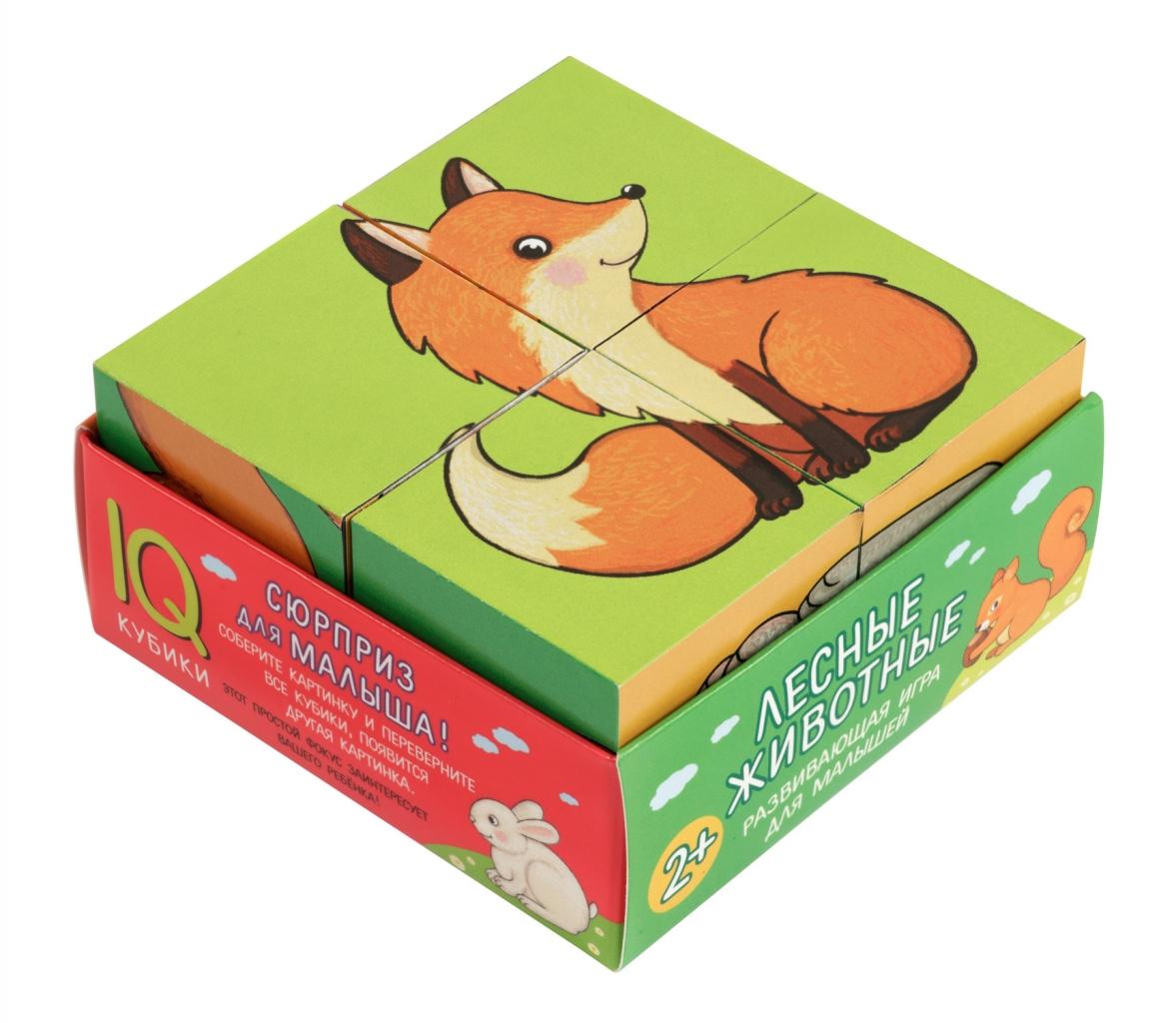 Купить Кубики АЙРИС-ПРЕСС 66654 Лесные животные, пластик, бумага, картон, Для мальчиков и девочек, Россия, Кубики для малышей