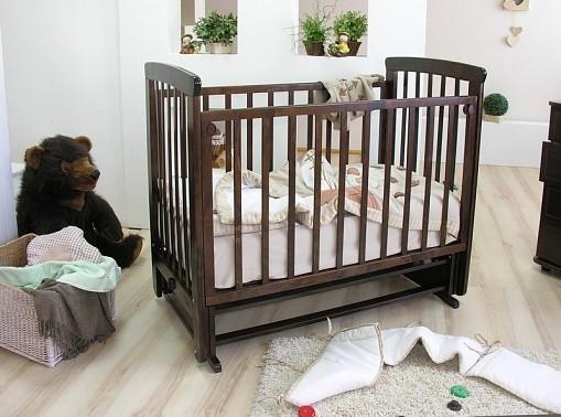 Купить МОЖГА Кровать детская Красная Звезда Марина С 700 (цвет: шоколад, без ящика) [С 700], шоколадный, массив березы, Кроватки детские