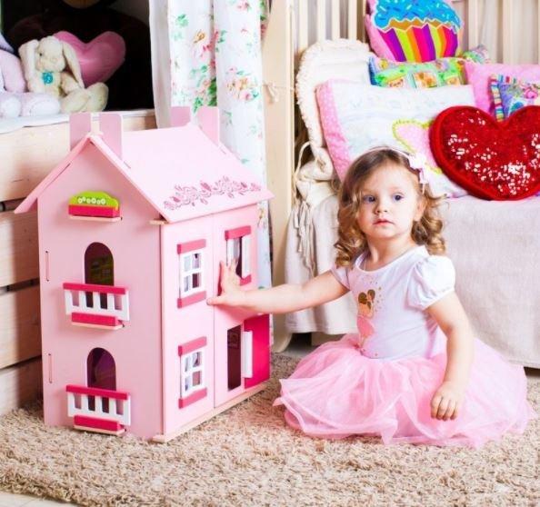 Купить PAREMO Кукольный домик Милана, для кукол до 15 см (15 предметов мебели) [PD115-01], МДФ, дерево, Для девочек, Кукольные домики