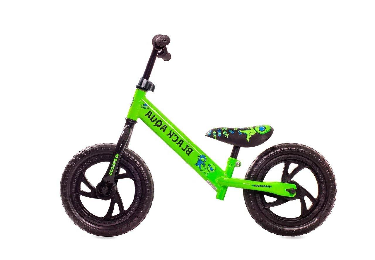 Купить Беговел Black Aqua (122 12 ) зелёный, Зеленый, Китай, Детские беговелы