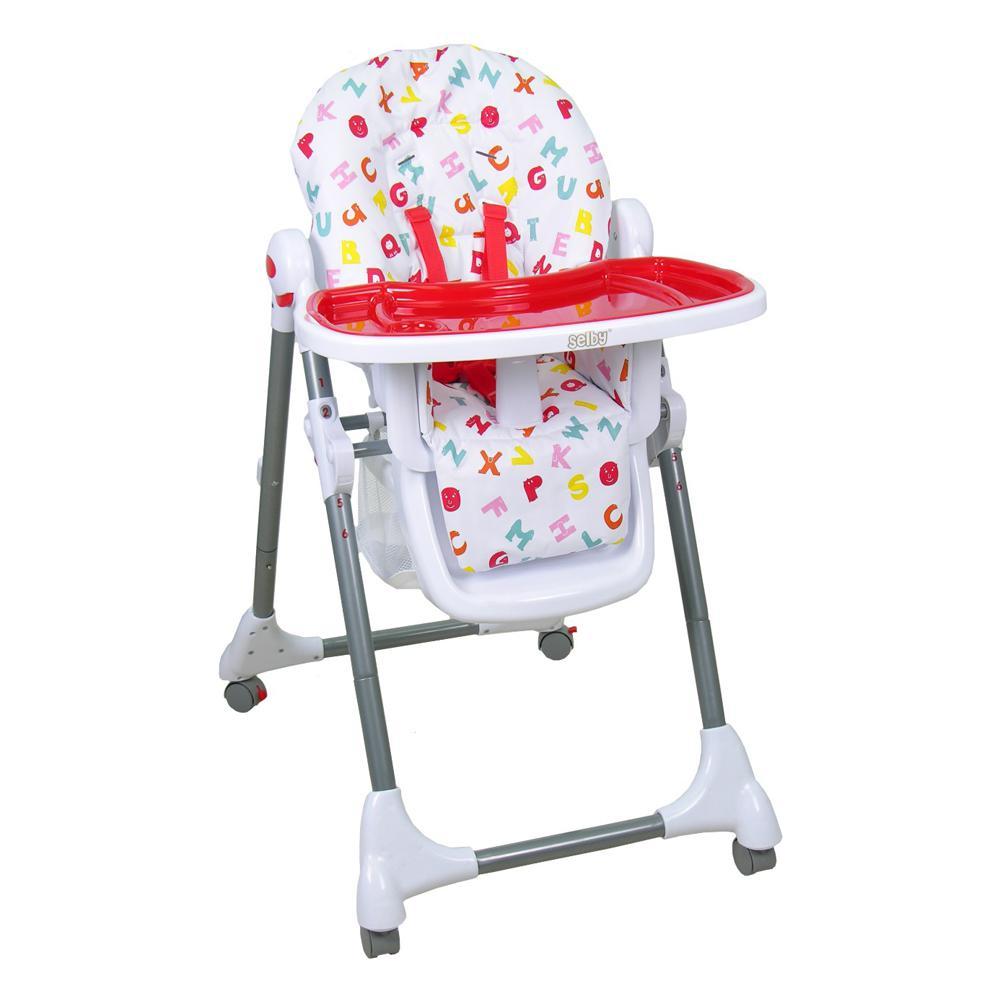 Купить 12356250, SELBY Стульчик для кормления Bh-431 красный, [827377], Стульчики для кормления малышей