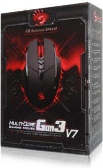 Проводная мышь A4Tech Bloody V7 game mouse Black USB купить, цена,  характеристики, фото - интернет-магазин BeCompact.Ru