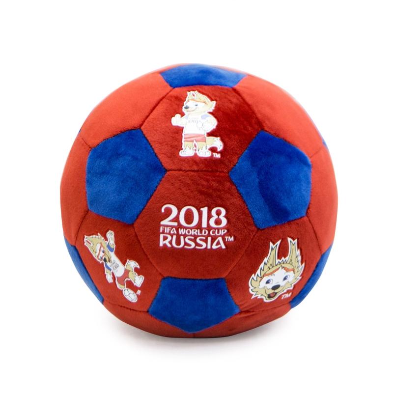 Купить FIFA-2018 плюшевый мяч красно-синий 22см [Т11446], Fifa 2018, Для мальчиков и девочек, Детские мячи и прыгуны