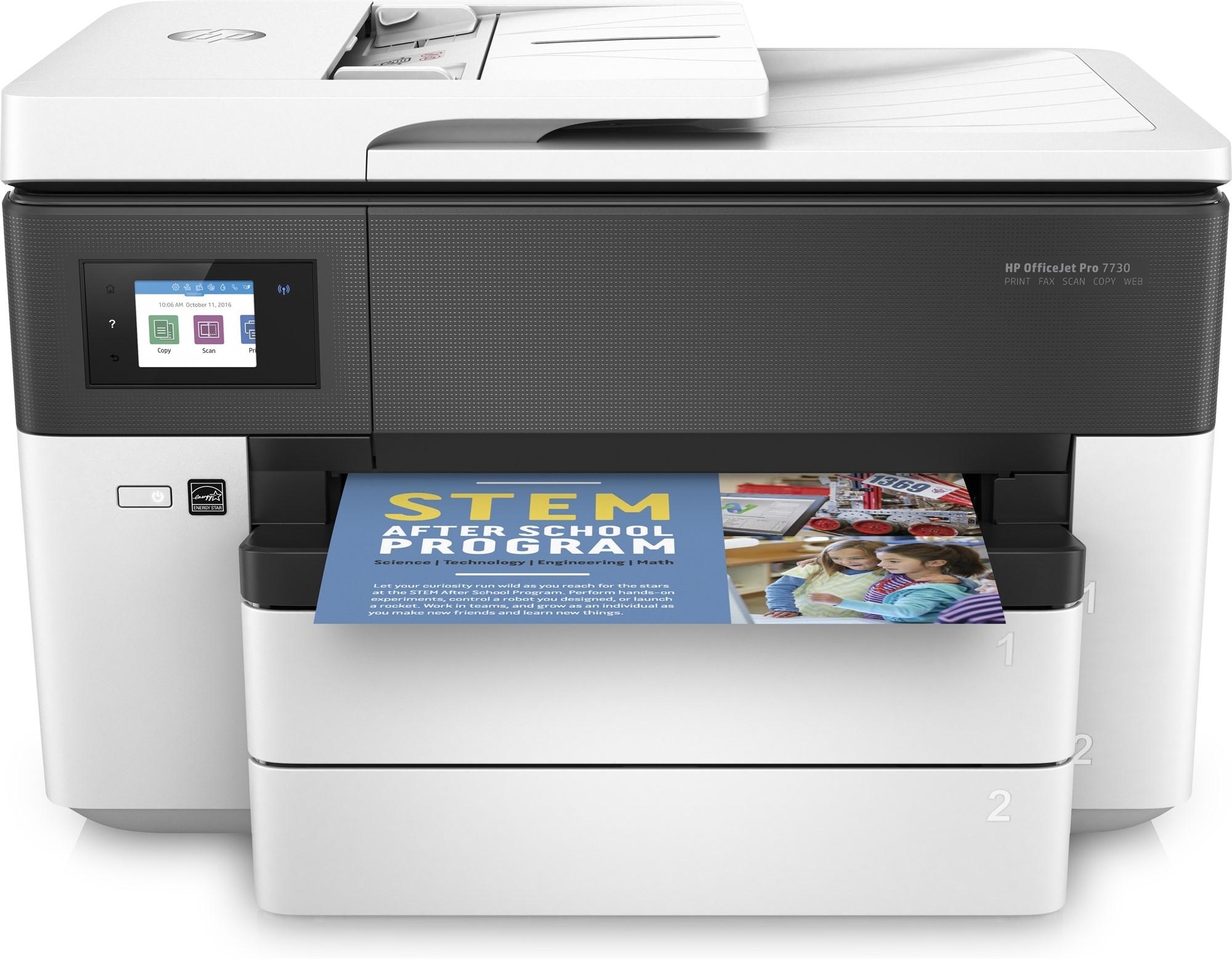 Купить Цветное струйное МФУ HP OfficeJet 7730 (Y0S19A), Белый, Китай