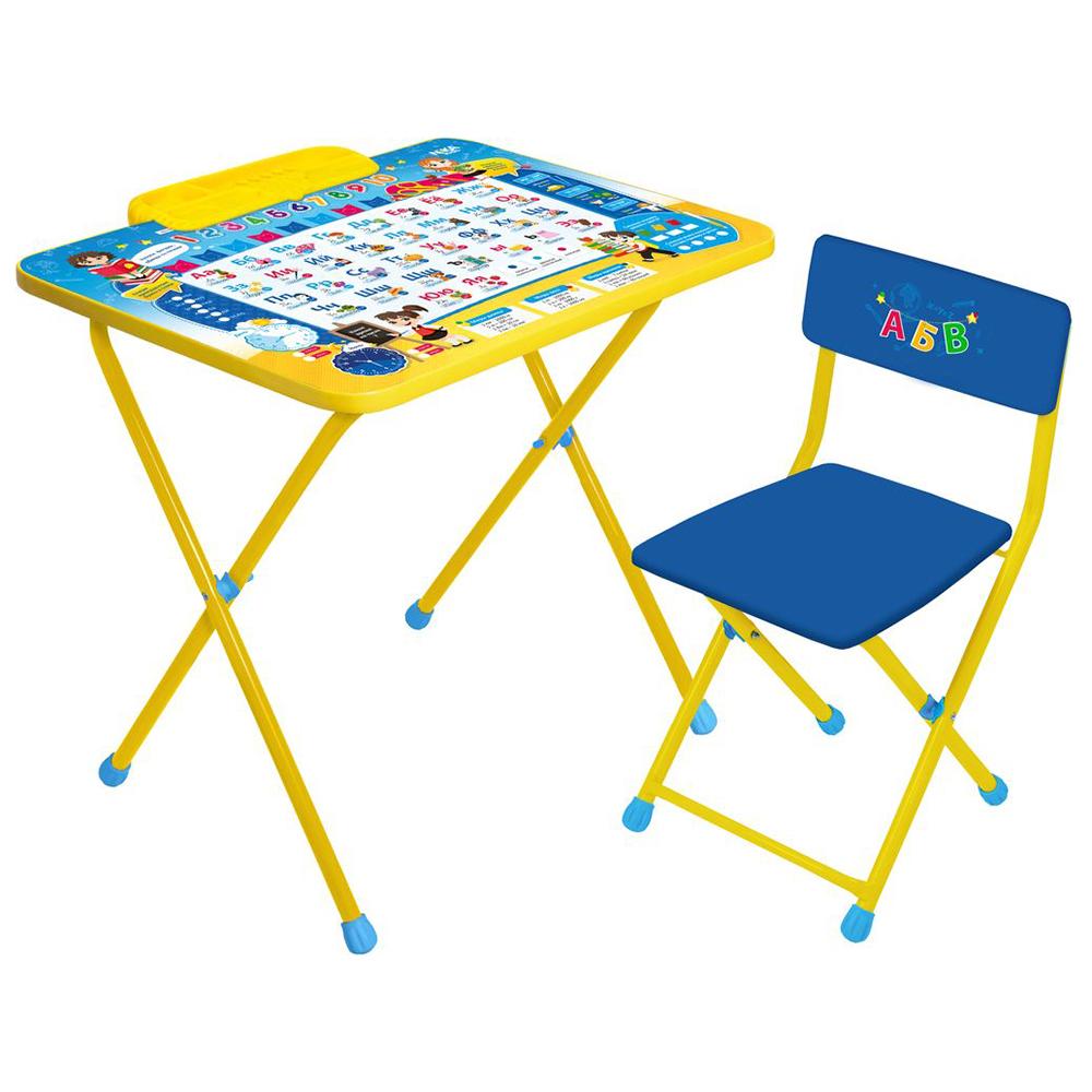 Купить НИКА Наборы мебели ПОЗНАЙКА стол+мягкий стул [КПМ/П], Россия, Комплекты мебели для детских комнат