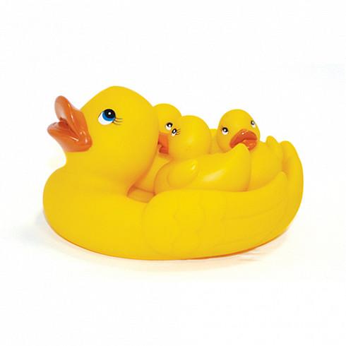 Купить LUBBY Набор игрушек для купания Lubby Утята , с 12 месяцев, ПВХ, 4 штуки [13834/96/12], Детские игрушки для ванной