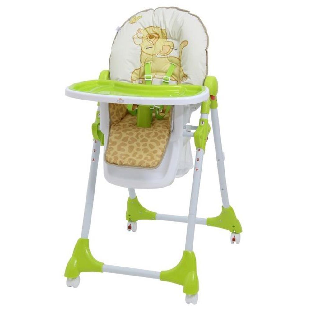 Купить УТ000001767, POLINI KIDS Стульчик для кормления DISNEY baby 470 Король лев, зеленый [827428], Стульчики для кормления малышей
