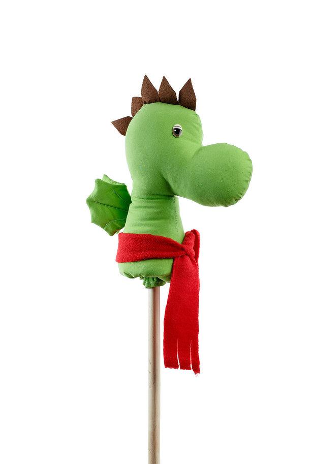 Игрушка КОНЯША ДД006 Динозавр Дракоша, Текстиль, дерево, фурнитура, Для мальчиков и девочек, Россия, Каталки и качалки для малышей  - купить со скидкой