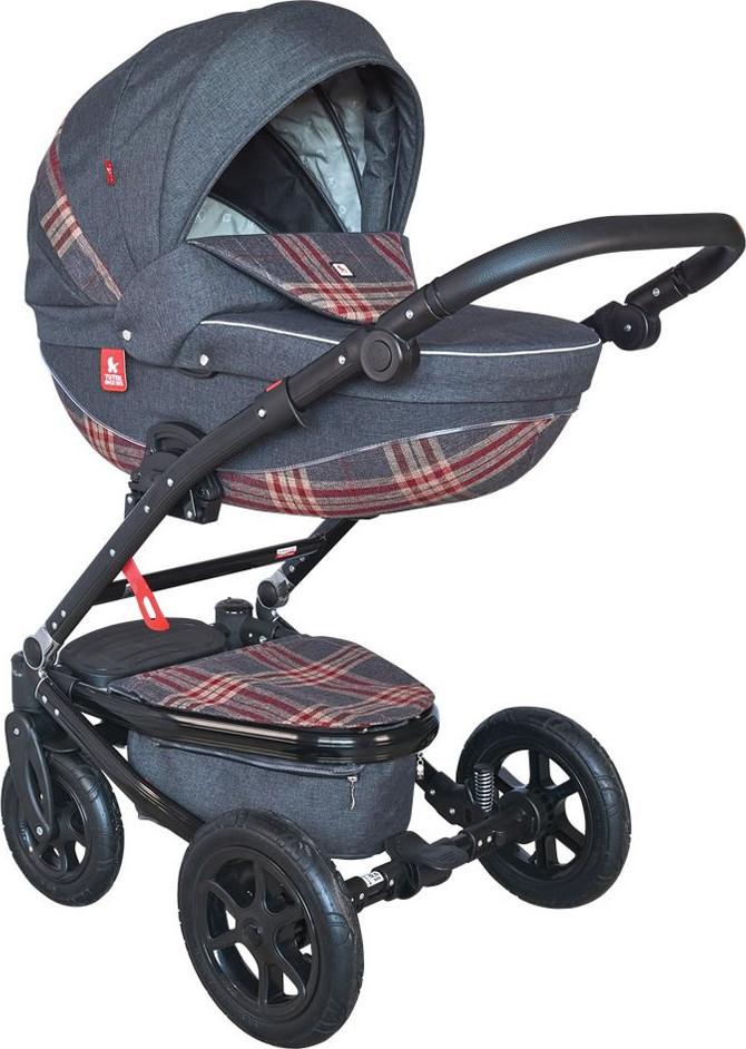 Купить TUTEK Детская коляска Timer , 2 в 1, цвет: NTM3C/C, темно-синий [УТ-0002453NTM3C/C], Резина, алюминий, эко-кожа, Детские коляски