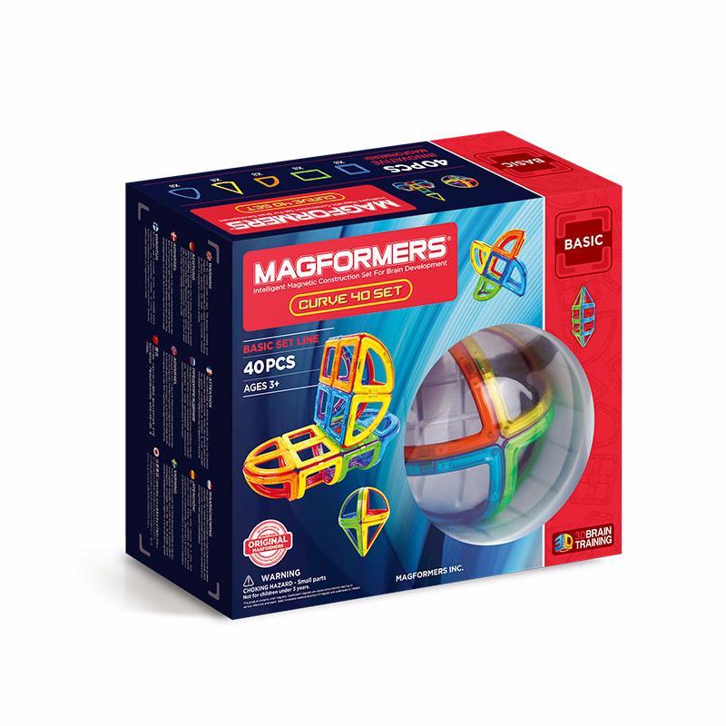 Купить Магнитный конструктор MAGFORMERS 701011 Curve 40, пластик, магнит, Для мальчиков и девочек, Китай, Конструкторы