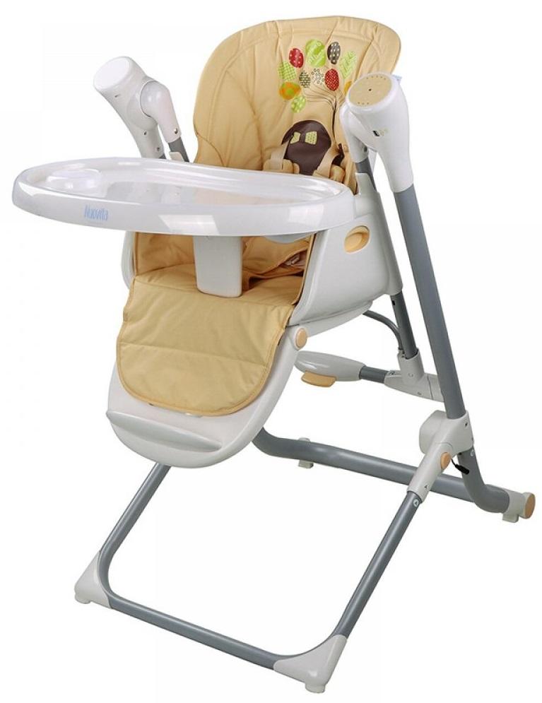 Купить NUOVITA Стул-качели Unico Leggero (elefante/слон) [TY868 531], коричневый, пластик, Металл, эко-кожа, Для мальчиков и девочек, Стульчики для кормления малышей