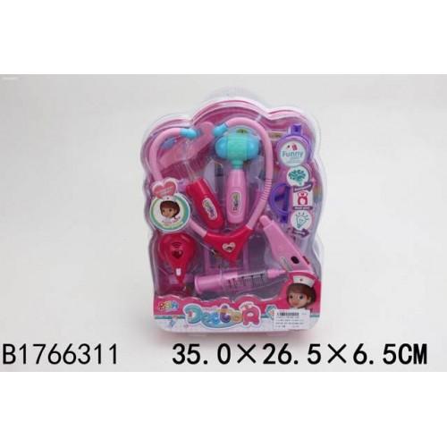 Купить SHANTOU GEPAI Набор Доктор звук, свет, 35х26.5х6.5 см [B1766311], Играем в доктора