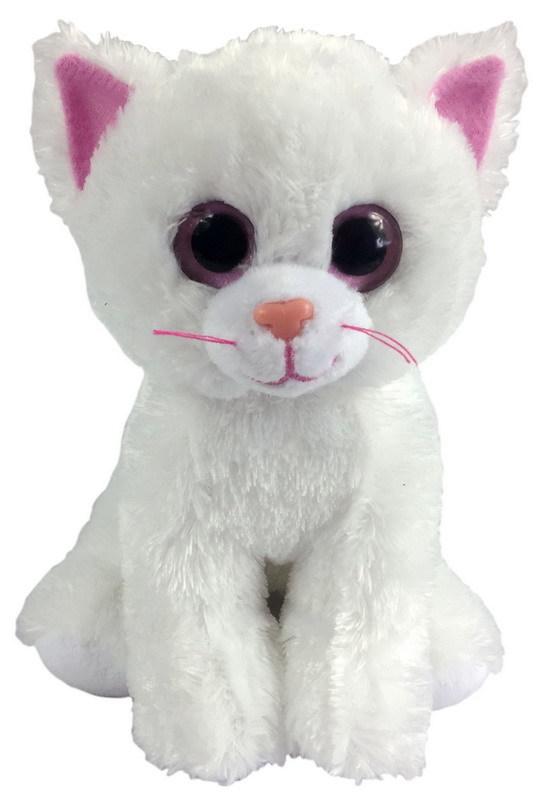 ABTOYS Котенок белый, 15 см (розовые глаза) [M0009]