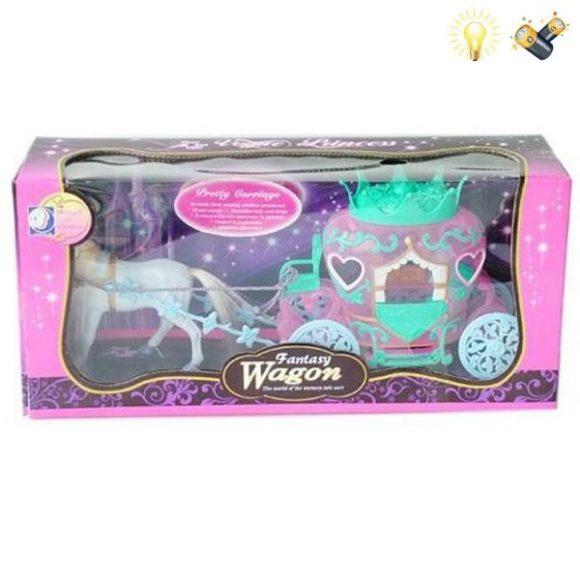 Купить НАША ИГРУШКА Карета с лошадью Фантазия [100359796], Наша игрушка, пластмасса, Играем в салон красоты