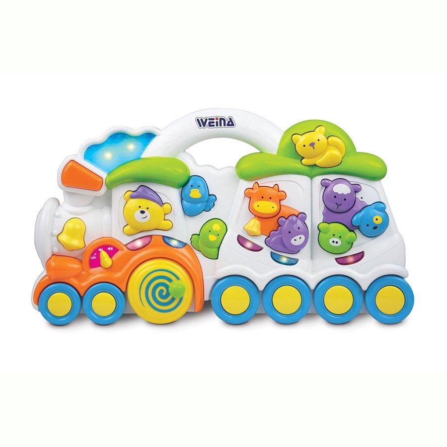 Купить WEINA Развивающая игрушка музыкальная ВЕСЕЛЫЙ ПОЕЗД [2106], Китай, Развивающие игрушки для малышей