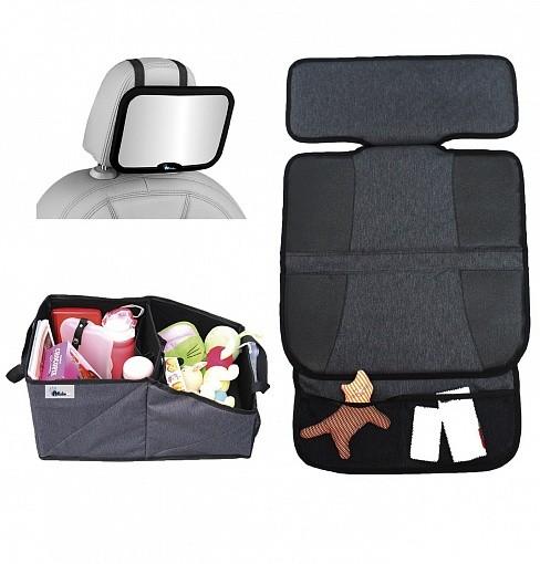 Купить ALTABEBE Комплект для поездок (зеркало на спинку, защитный коврик на сиденья, органайзер для автокресла), [AL1969], пластик, полиэстер, акрил, Аксессуары для колясок и автокресел