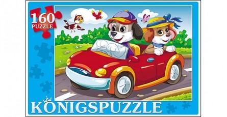 Купить KÖNIGSPUZZLE Пазлы Konigspuzzle. Щенки в автомобиле , 160 элементов [ПК160-5848/РК], Königspuzzle, Картон
