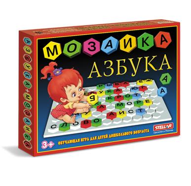 Купить СТЕЛЛАР Мозаика Азбука [1003], пластмасса, Мозаика для детей