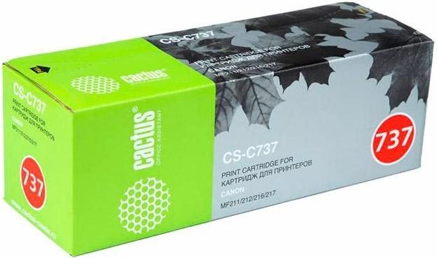 Купить Тонер-картридж Cactus CS-C737 Black, Black (Черный), Китай