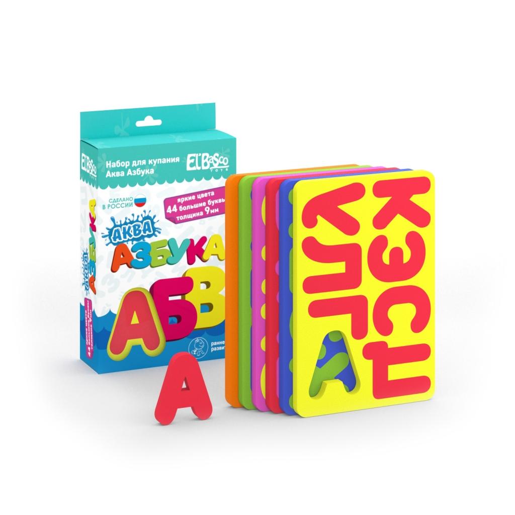 Купить Набор EL BASCO 08-001 Аква Азбука, ЭВА, Для мальчиков и девочек, Россия, Детские игрушки для ванной