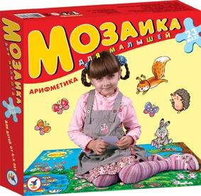 Купить ДРОФА Мозаика для малышей Арифметика (новый дизайн) [2403], Картон, Россия, Мозаика для детей