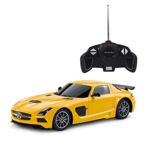 Купить Машина р/у 1:18 Mercedes-Benz SLS AMG Цвет Желтый [54100Y], Rastar, Игрушки на радиоуправлении
