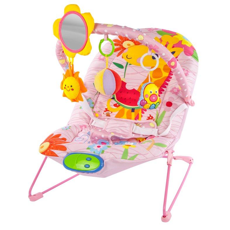 Купить ЖИРАФИКИ Кресло-качалка Жирафики Милашка (с зеркальцем, вибрацией и музыкой) [939431], текстиль, наполнитель, пластик, металл, Детские качели