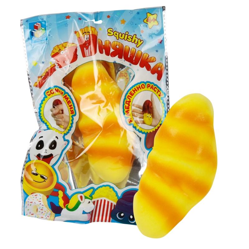 Купить 1 TOY игрушка-антистресс мммняшка squishy (сквиши), круассан [Т12402], Для мальчиков и девочек, Игрушки-антистресс