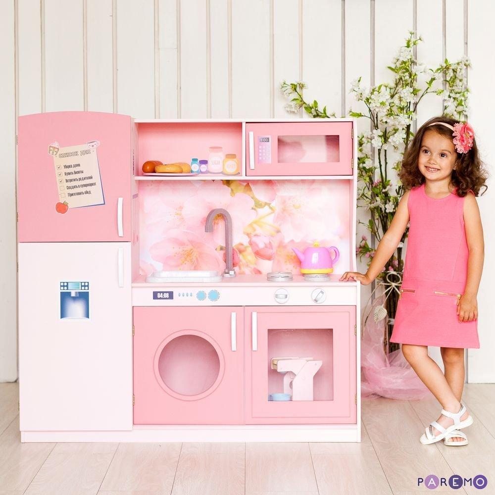 Купить PAREMO Игрушечная кухня Фиори Роуз [PK218-01], 100 x 30 x 102 см, пластик, МДФ, Детские кухни и бытовая техника