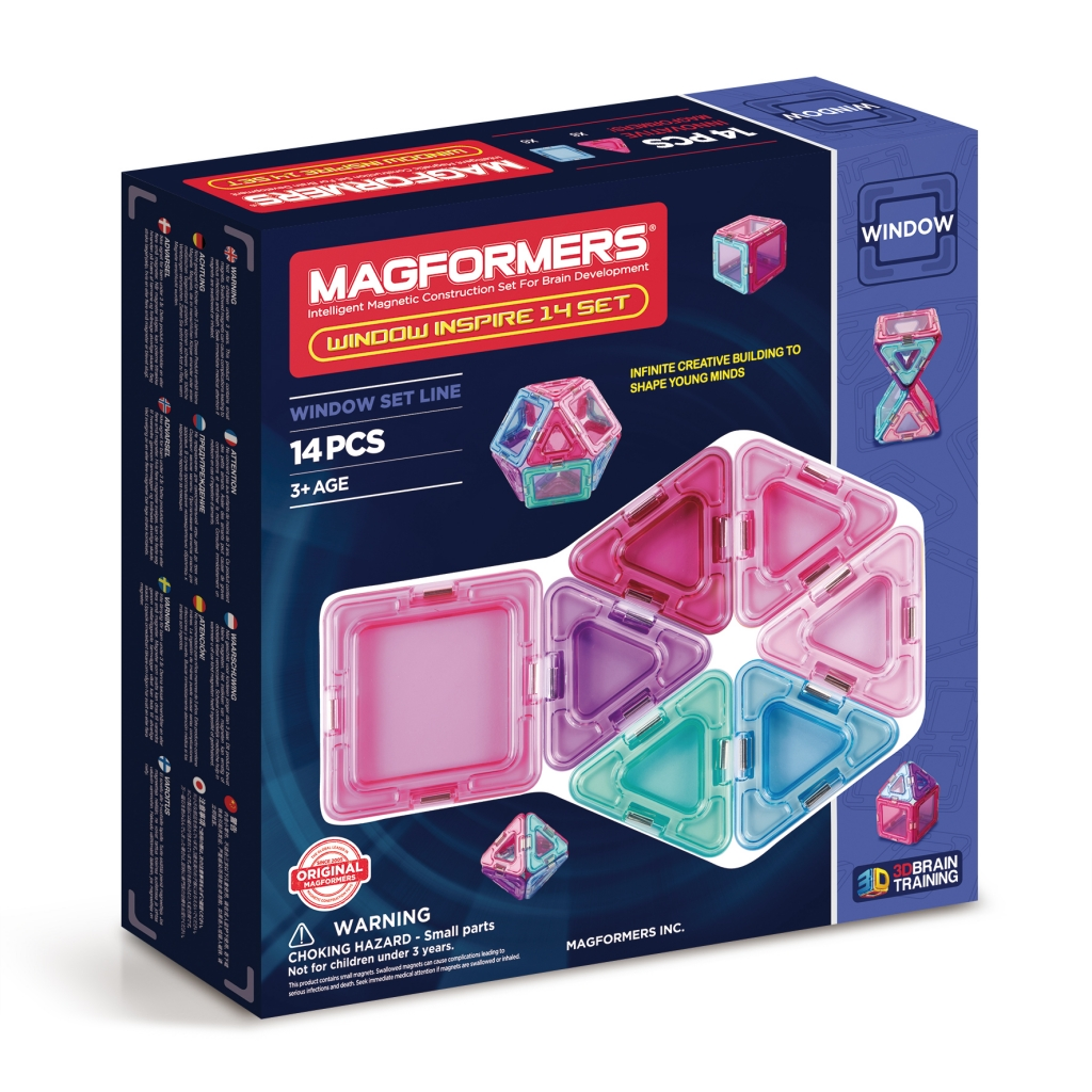Купить Магнитный конструктор MAGFORMERS 714003 Window Inspire 14 set, пластик, магнит, Для мальчиков и девочек, Китай, Конструкторы