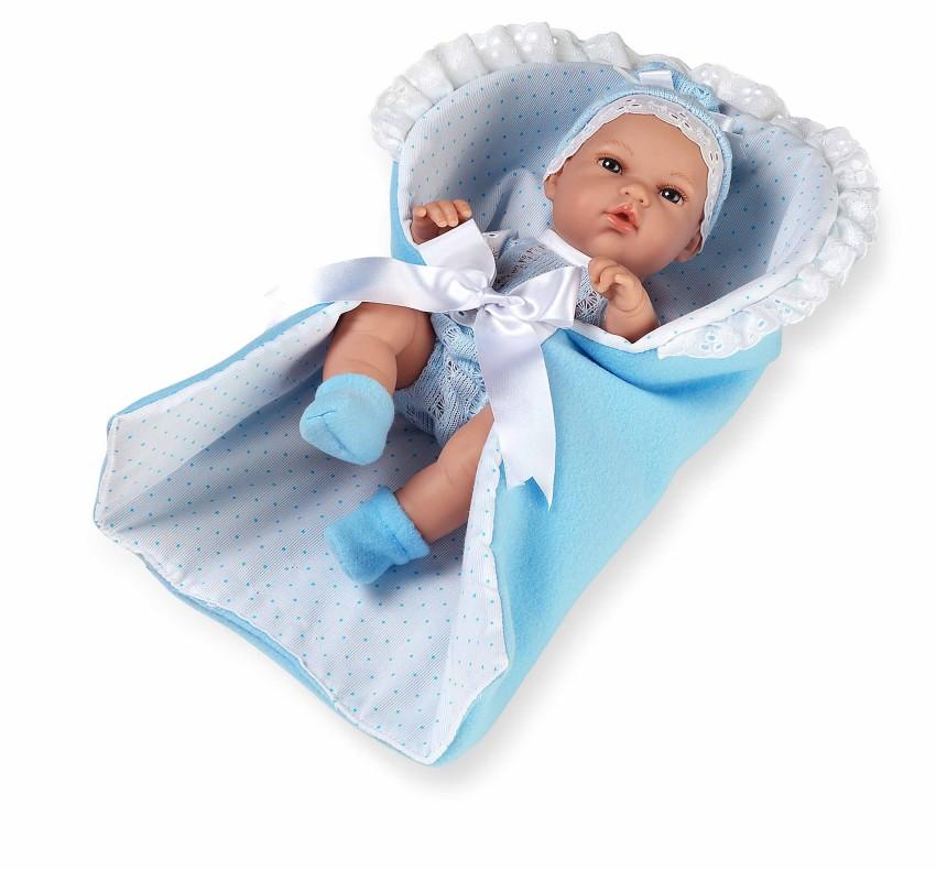 Купить MUNECAS ARIAS Пупс Elegance , голубой конверт, 33 см [Т11069], Винил, текстиль, Для мальчиков, Испания, Куклы и пупсы