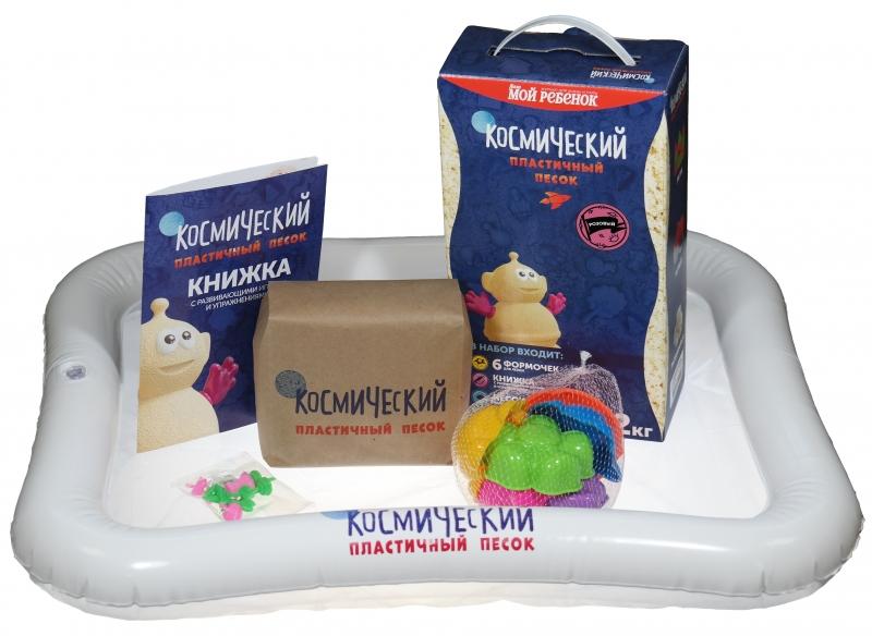 Купить Космический песок Песочница+Формочки Розовый 2 кг(коробка) [Т58579], 1 toy, Для мальчиков и девочек, Кинетический песок