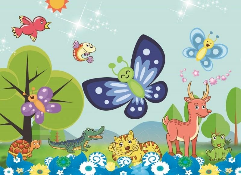Купить COLOR KIT Мозаика-стикеры 3D Веселая бабочка [DF-A-6618 ], Наклейки для творчества