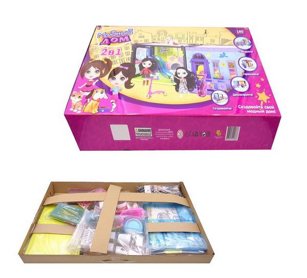 Купить ABTOYS Набор 2 в 1 Модный дом. Спальня и прачечная с куклой и мебелью [PT-00853], пластик, Для девочек, Китай, Кукольные домики