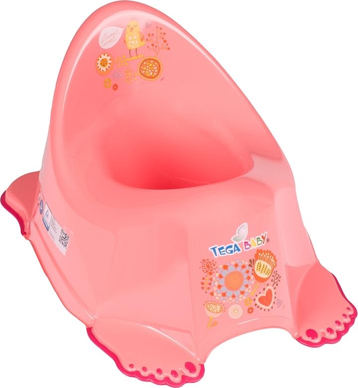 Купить ТЕГА Детский горшок антискользящий FOLK (ФОЛЬКЛОР) персиковый [FL-001-114], Tega baby, Горшки и детские сиденья на унитаз