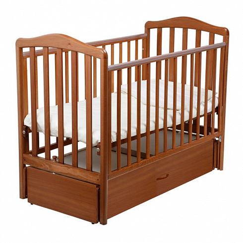Купить PAPALONI Детская кроватка Винни (маятник, 120х60 см, цвет: орех) [00-0009413506], дсп, бук, Кроватки детские