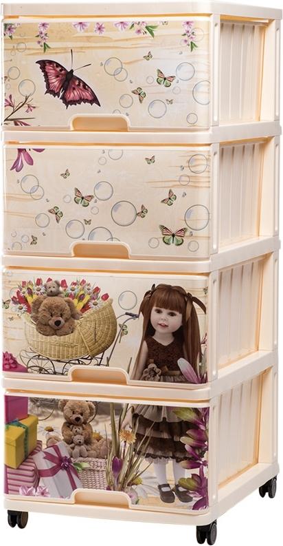 Купить DUNYA Комод с рисунком КУКЛА [40318], Dunya plastik, Принадлежности для хранения игрушек