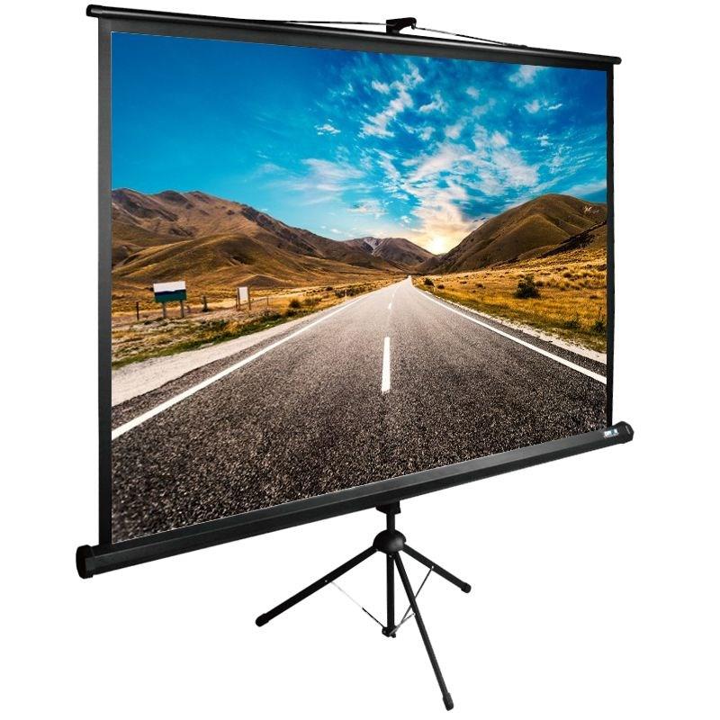Картинка для Экран напольный рулонный Cactus Tri Expert (CS-PSTE-160x160-BK) 1:1 160x160 см